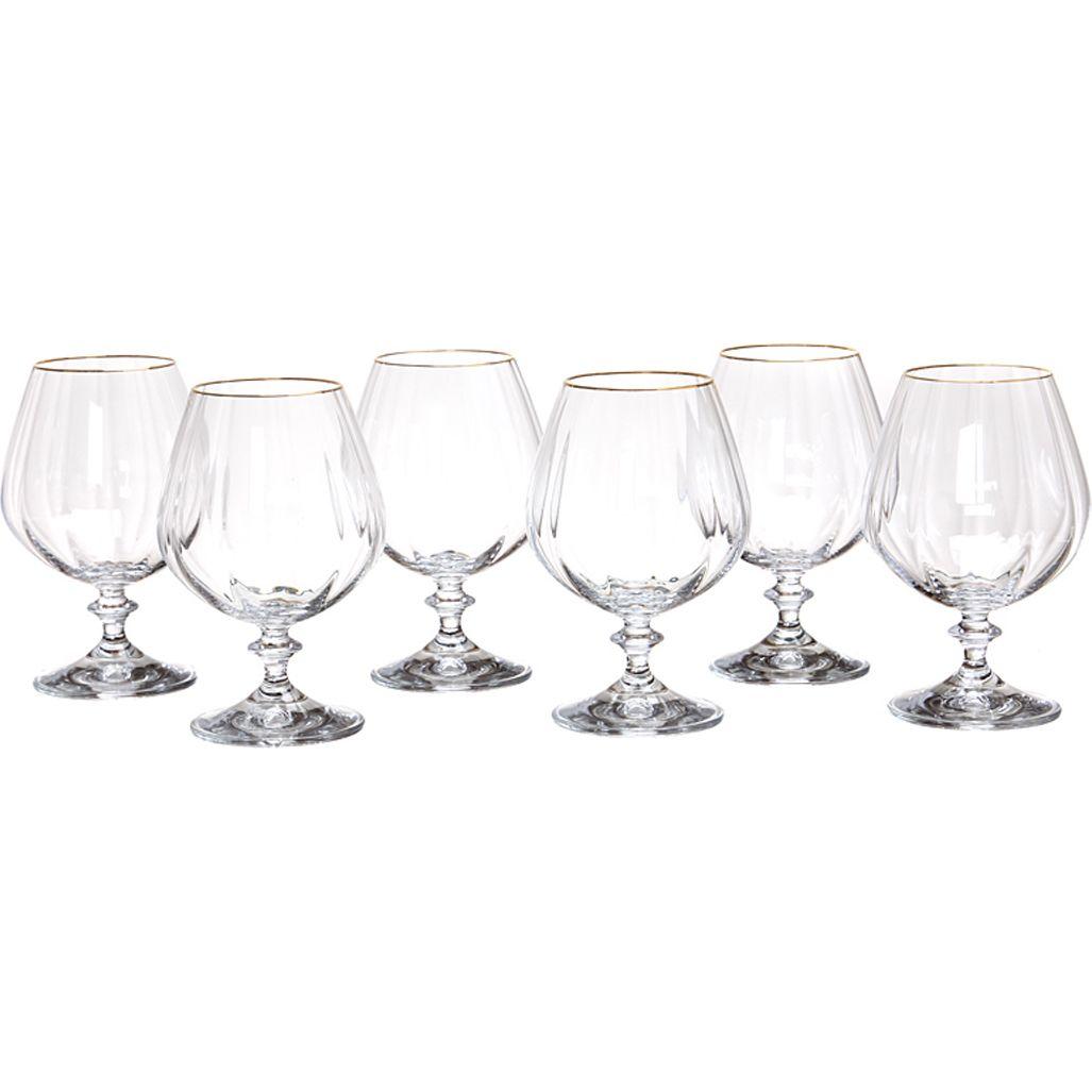 Набор бокалов для коньяка Анжела (400 мл - 6 шт) Bohemia Crystal bhi379928