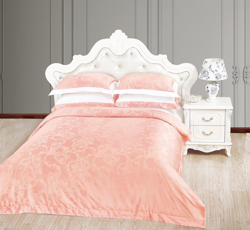 Купить Комплекты постельного белья Veronica Franko, Постельное белье Монсоро Цвет: Белый, Розовый (2 сп. евро), Китай, Хлопковый сатин