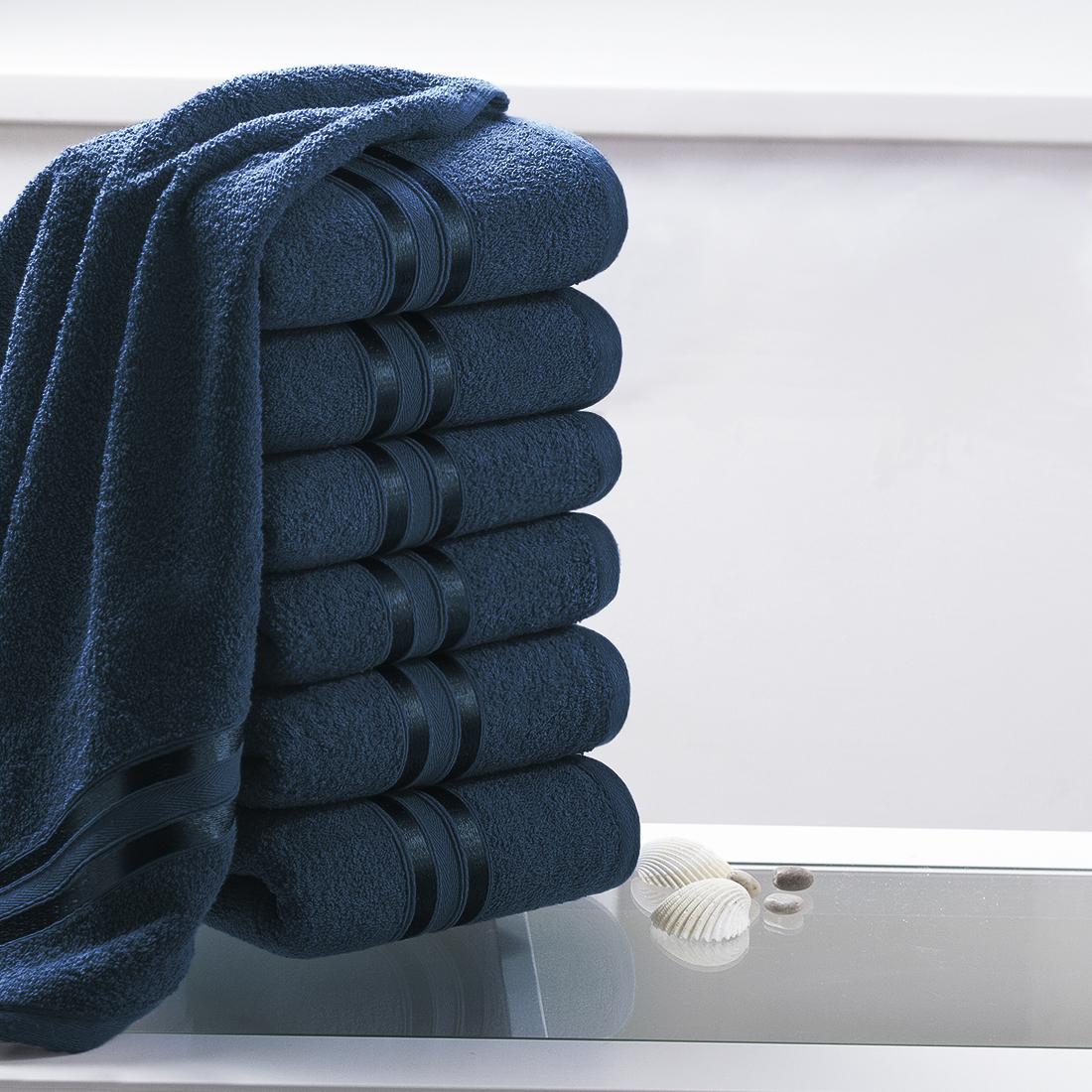 Купить Полотенца Dome, Полотенце для рук Harmonika Цвет: Темно-Синий (33х50 см - 6 шт), Дания, Махра