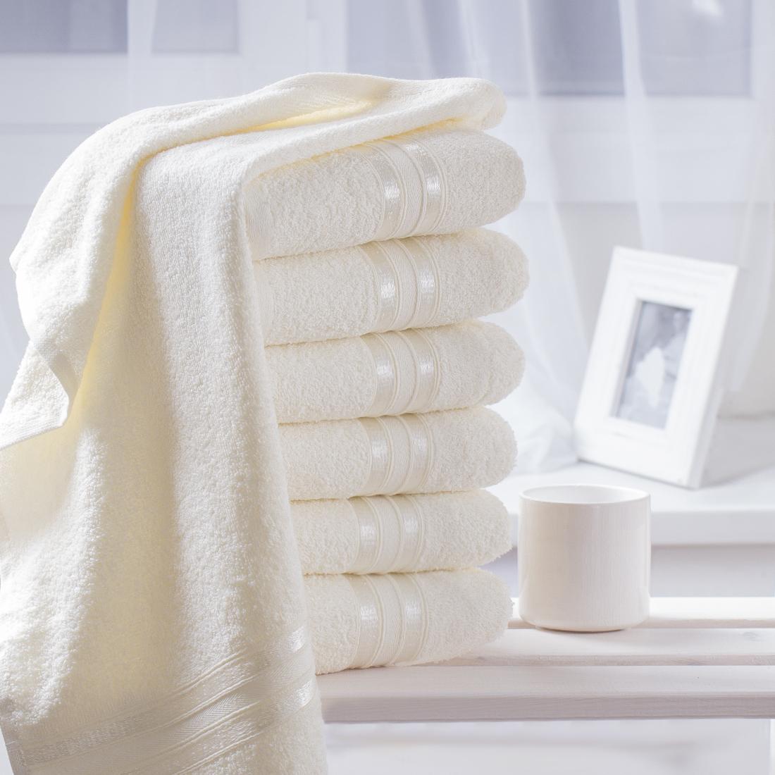 Купить Полотенца Dome, Полотенце для рук Harmonika Цвет: Молочный (33х50 см - 6 шт), Дания, Махра