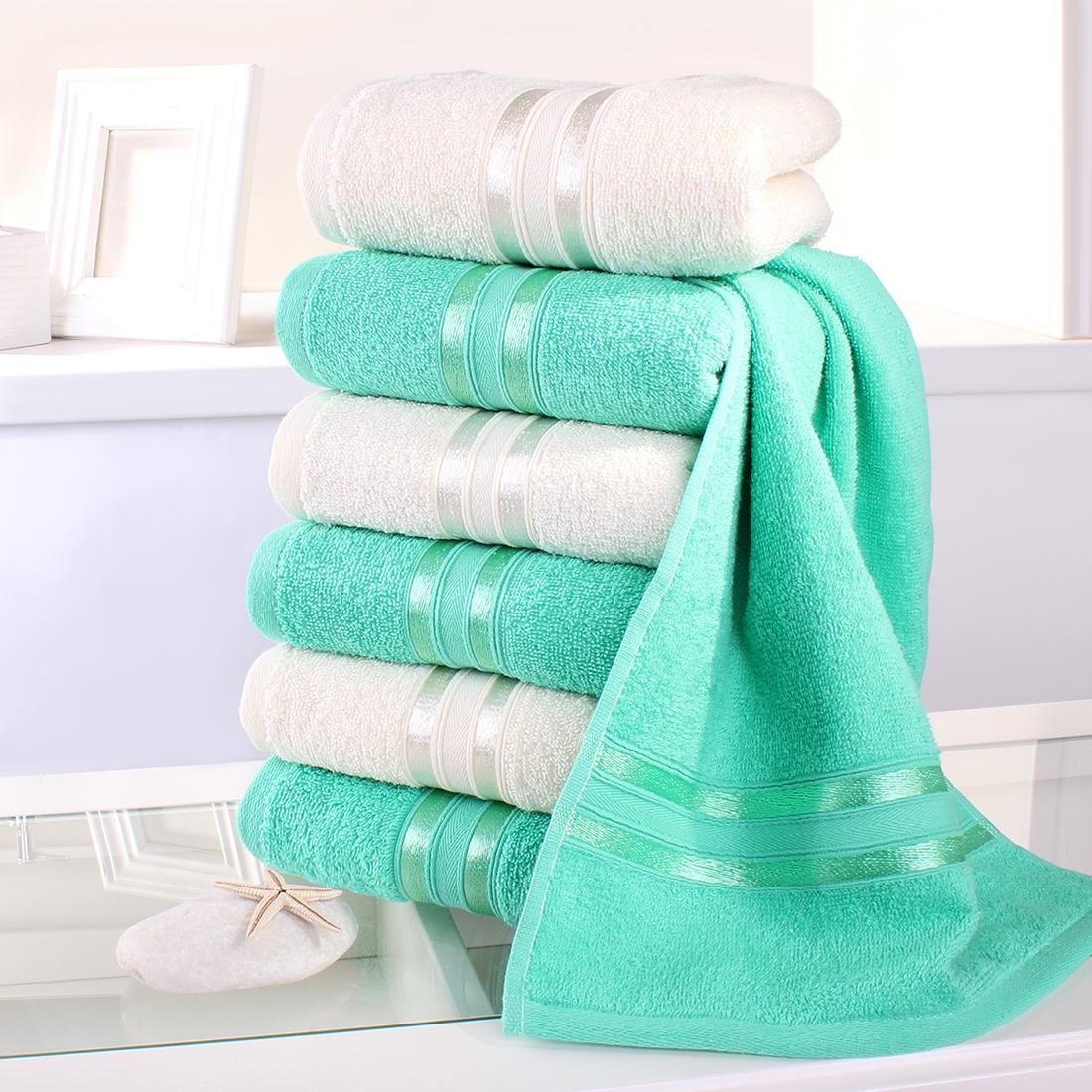 Купить Полотенца Dome, Полотенце для рук Harmonika Цвет: Молочный, Мятный (33х50 см - 6 шт), Дания, Махра