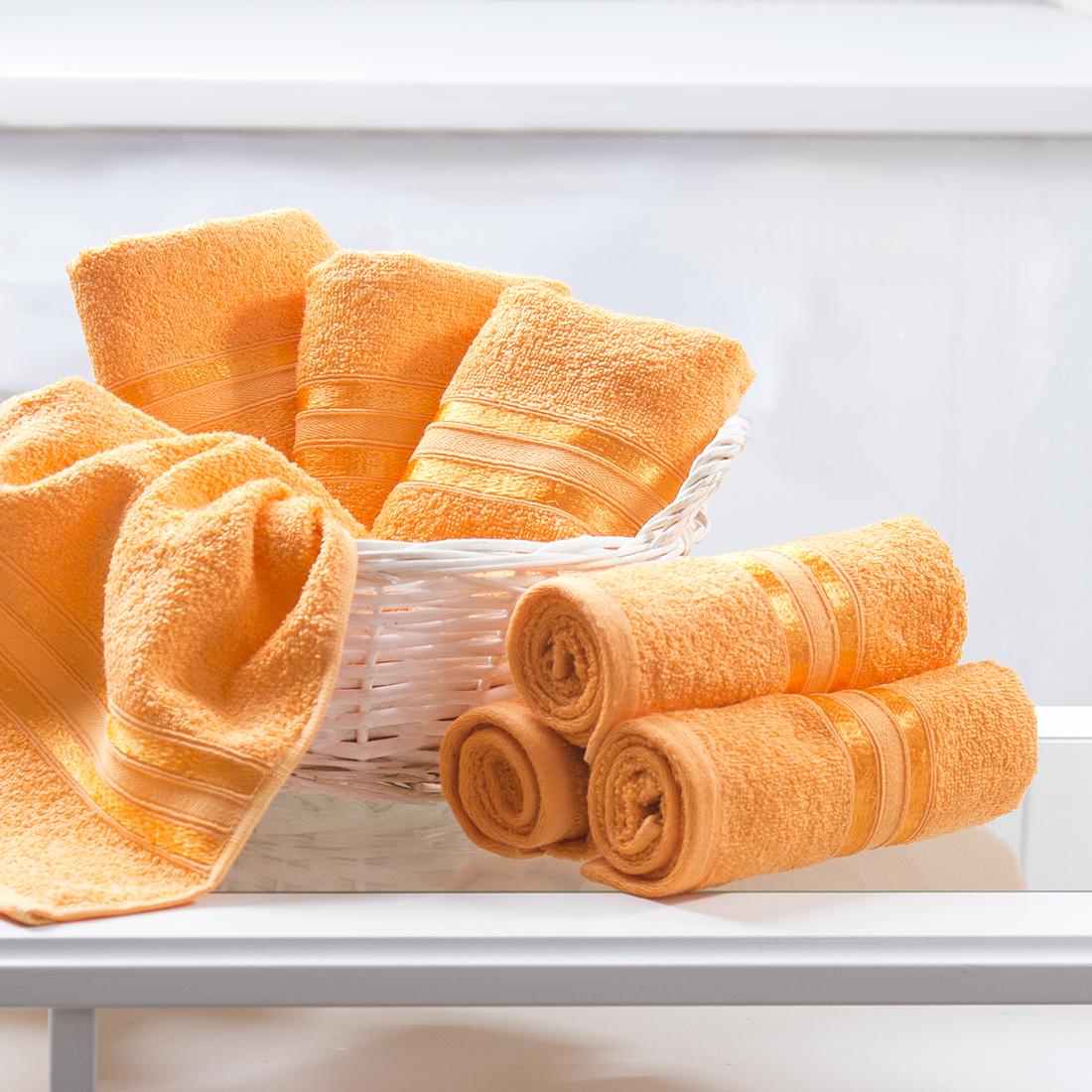 Купить Полотенца Dome, Полотенце для рук Harmonika Цвет: Оранжевый (33х50 см - 6 шт), Дания, Махра