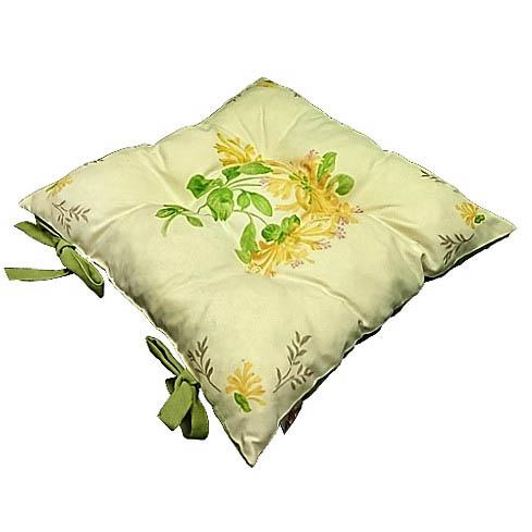 Купить Декоративные подушки Apolena, Подушка на стул Yellow Flowers (40х40), Россия-Турция, Желтый, Зеленый, Микрофибра