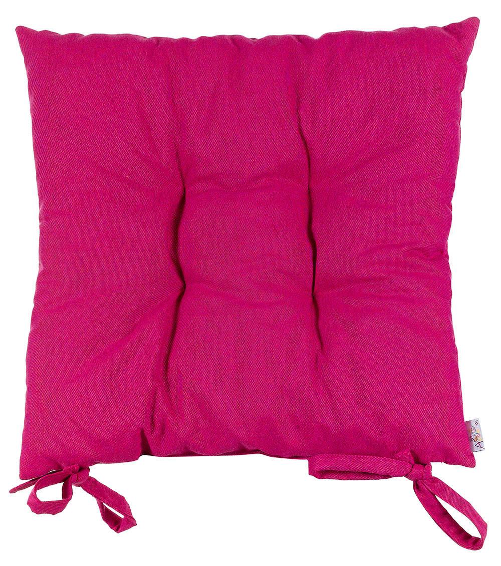 Купить Декоративные подушки Apolena, Подушка на стул Фукси (40х40), Россия-Турция, Бордовый, Хлопковый сатин