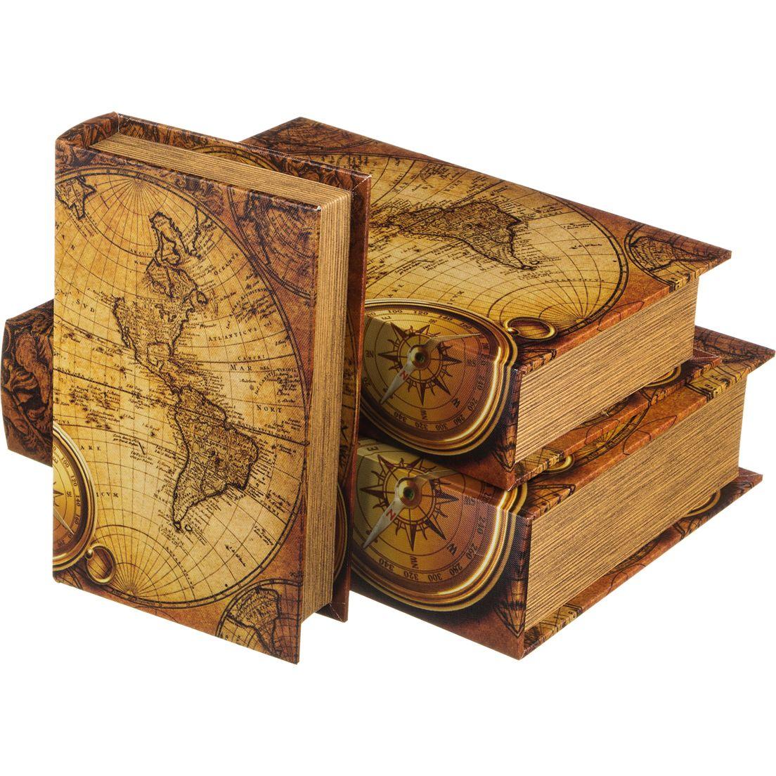 Шкатулки Lefard Шкатулка Карта Мира (3 шт) сейф книга alparaisa карта мира сс0022 1