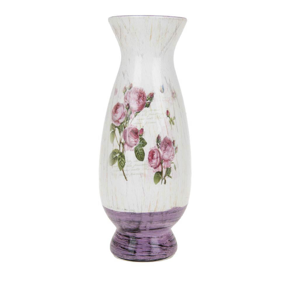 Вазы ArtHouse Ваза для цветов Кустовая Роза (10х10х25 см) вазы pavone ваза дикая роза