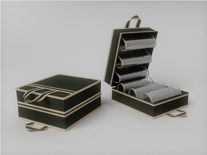 Органайзеры и кофры CoFreT Кофр для обуви Классик Цвет: Черный (20х35х40 см)