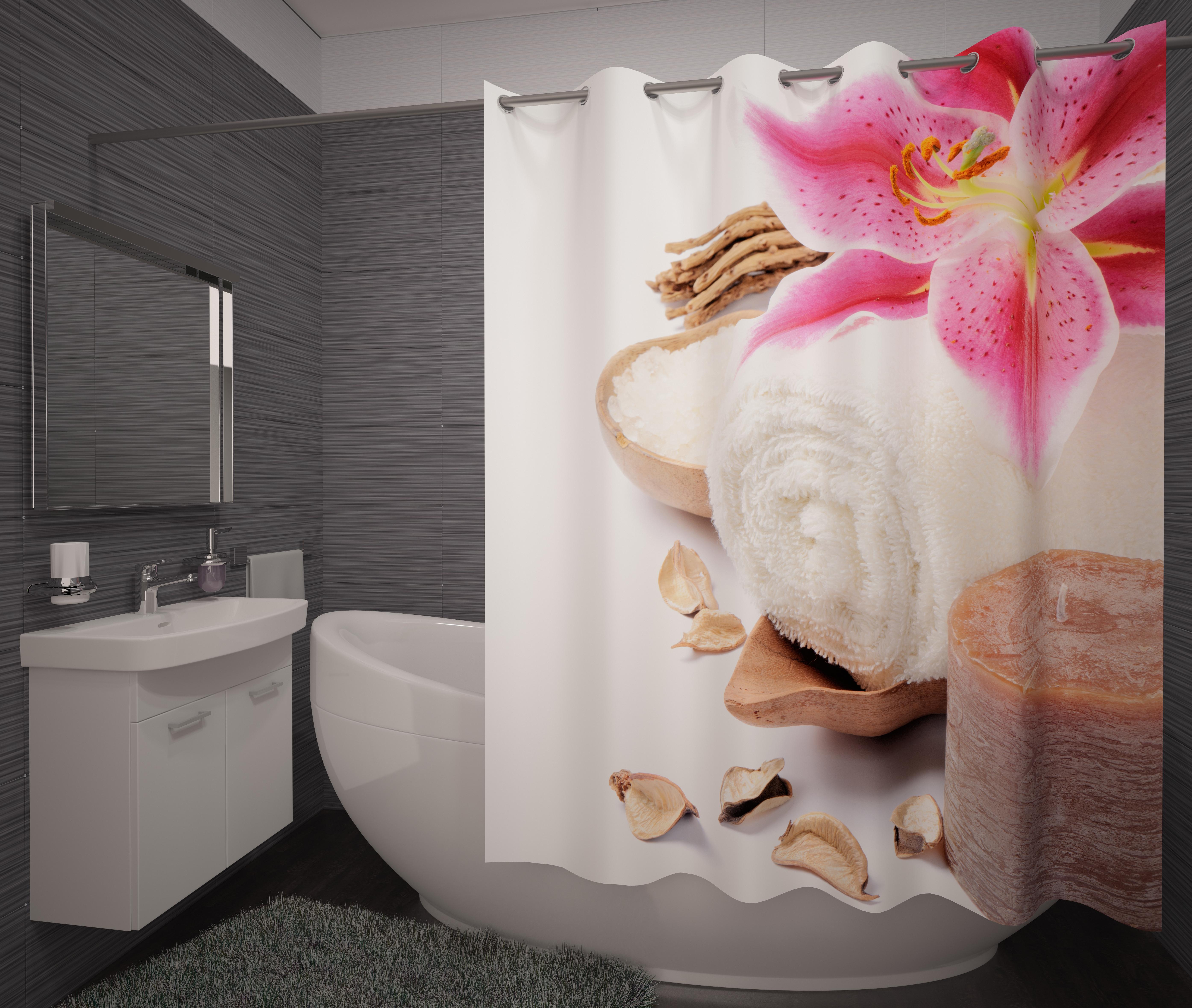где купить Шторы и карнизы Fototende Фотошторы для ванной Tosca по лучшей цене