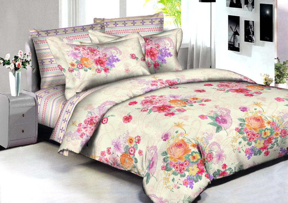 Купить Комплекты постельного белья Amore Mio, Постельное белье Surat (2 спал.), Китай, Желтый, Розовый, Сиреневый, Хлопковый сатин