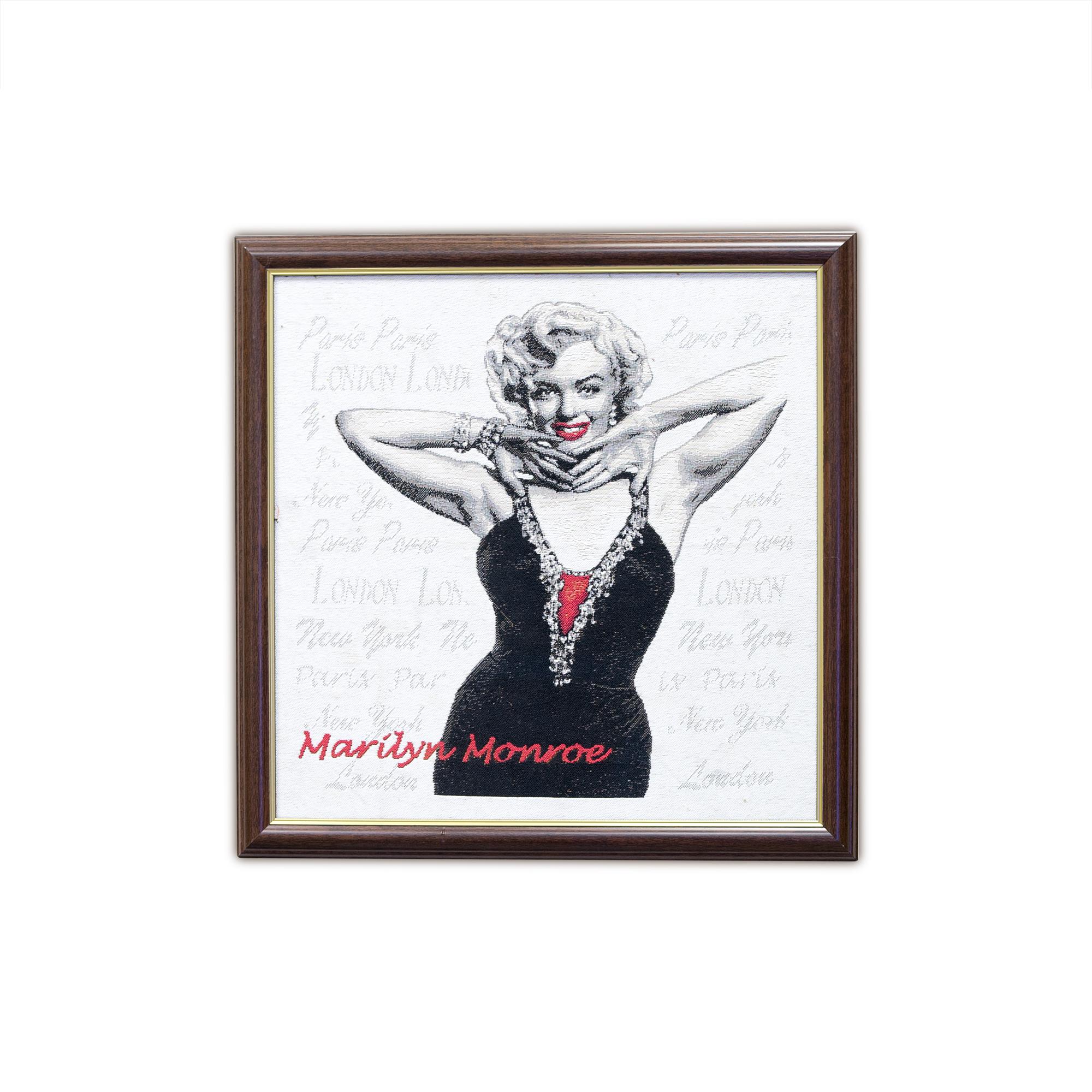 Купить Картины, постеры, гобелены, панно A La Gobelin, Картина Мэрлин Монро (44х44 см), Россия, Гобелен