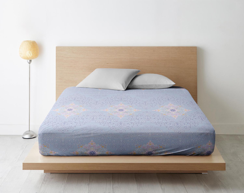 Простыня на резинке Витраж цвет: голубой (180х200)