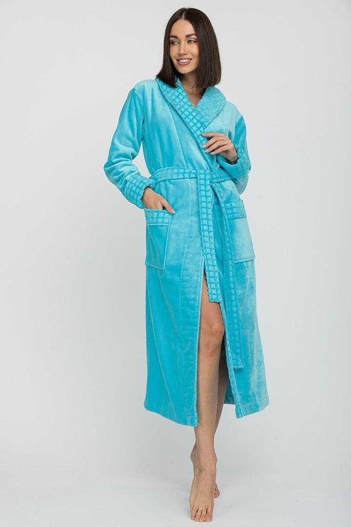 Банный халат Kimberlee Цвет: Бирюзовый (M) Peche Monnaie pmn714157