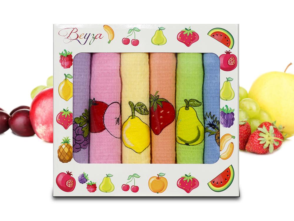 Купить Полотенца Beyza, Кухонное полотенце Ansel (50х70 см - 6 шт), Турция, Вафля