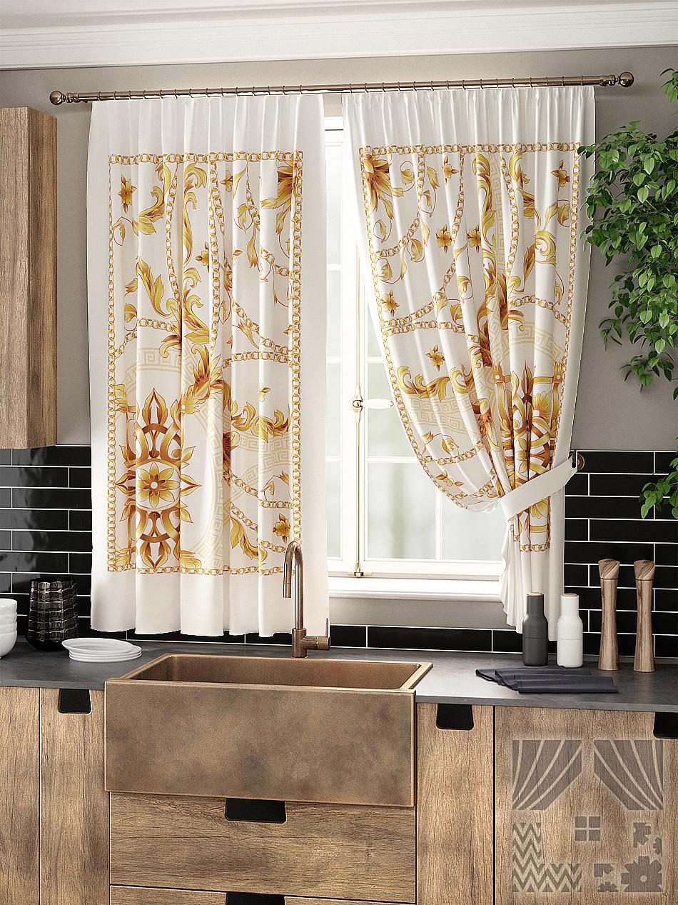 попытке шторы на окно в кухне модерн фото лиана