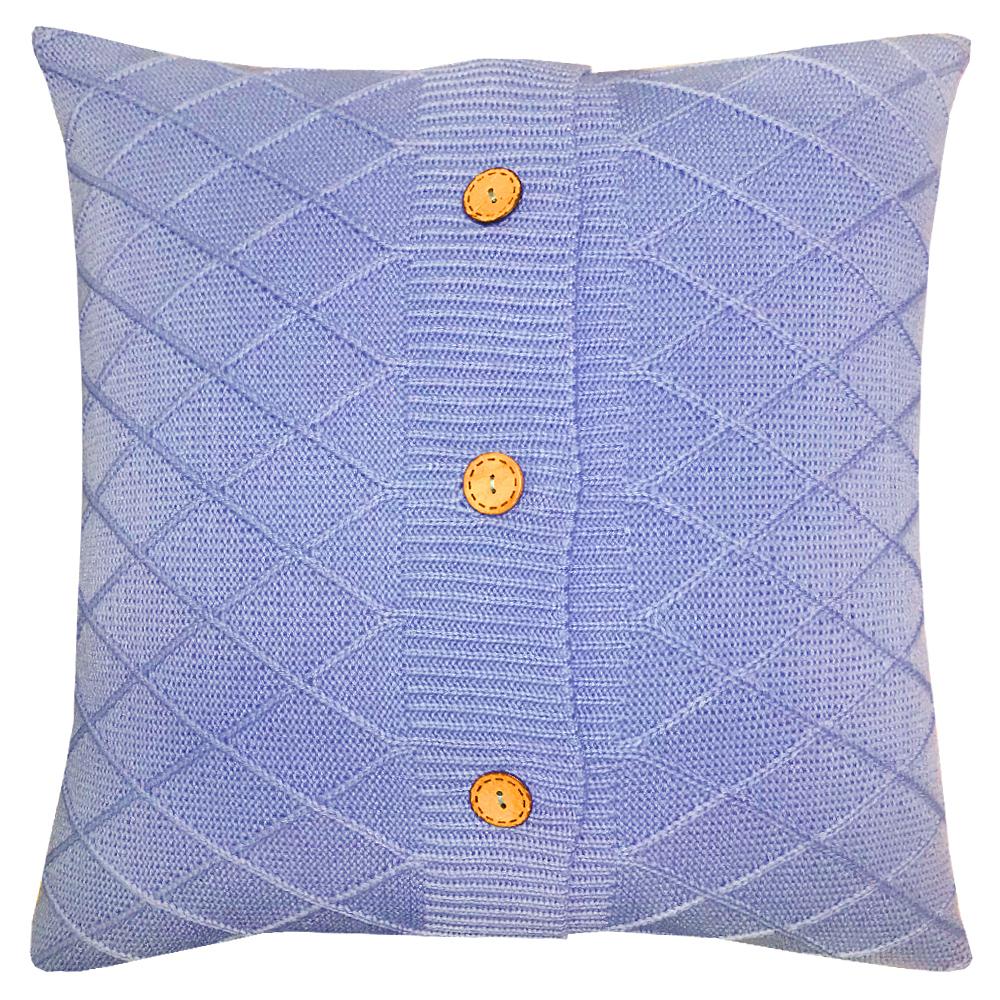 Купить Декоративные подушки Apolena, Декоративная наволочка Blue Rhomb (43х43), Россия-Турция, Вязаный акрил