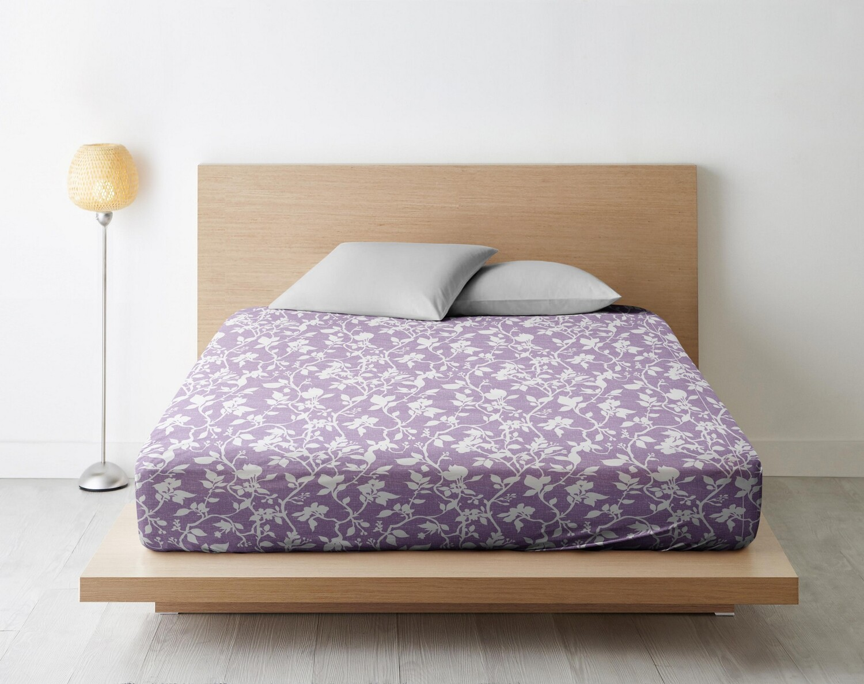 Простыня Нежный силуэт цвет: лиловый (175х215)