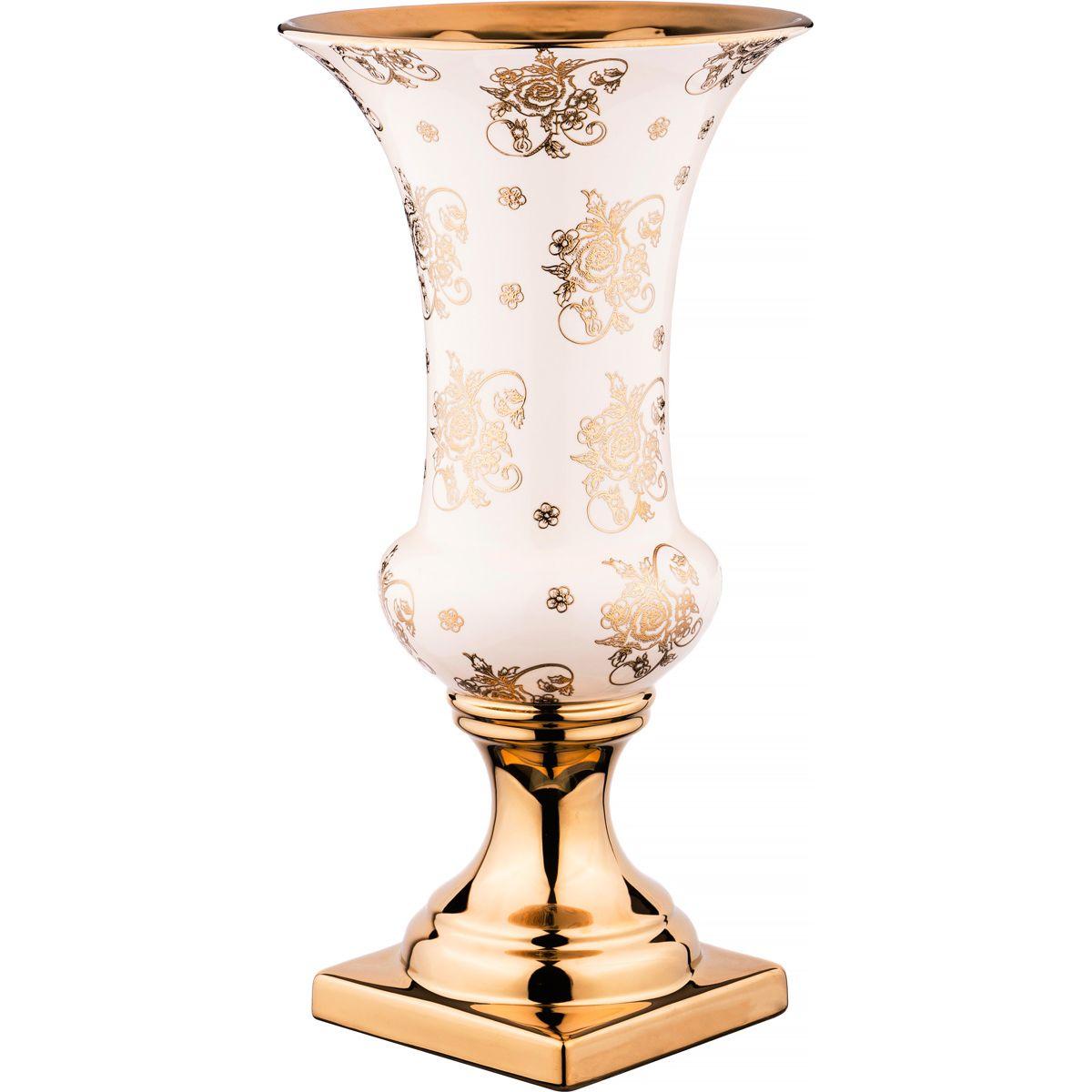 Купить Вазы Lefard, Ваза Conley (25х48 см), Китай, Золотой, Розовый, Керамика