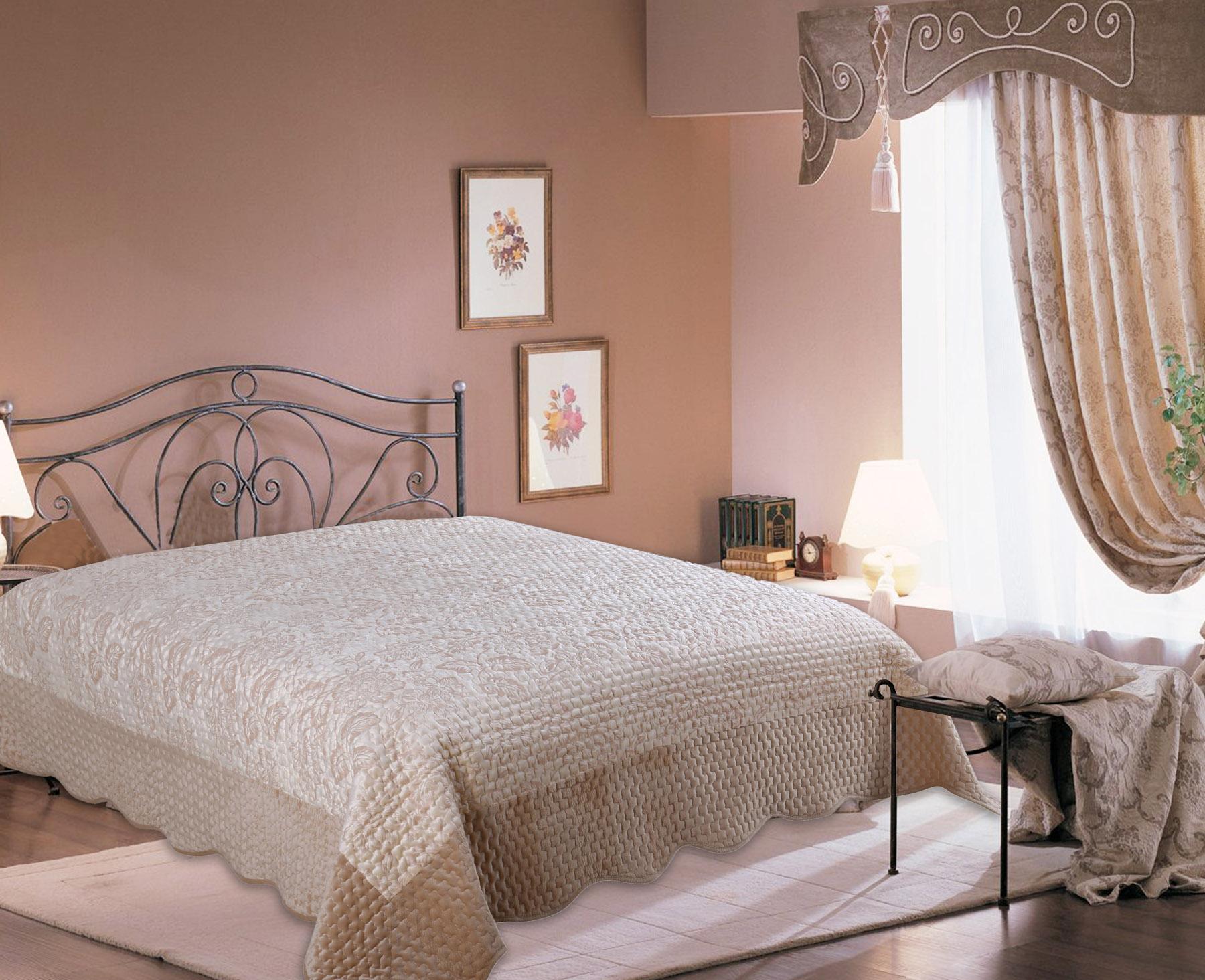 Купить Пледы и покрывала Amore Mio, Покрывало Valensia (220х240 см), Китай, Бежевый, Синтетический сатин, Синтетический велюр