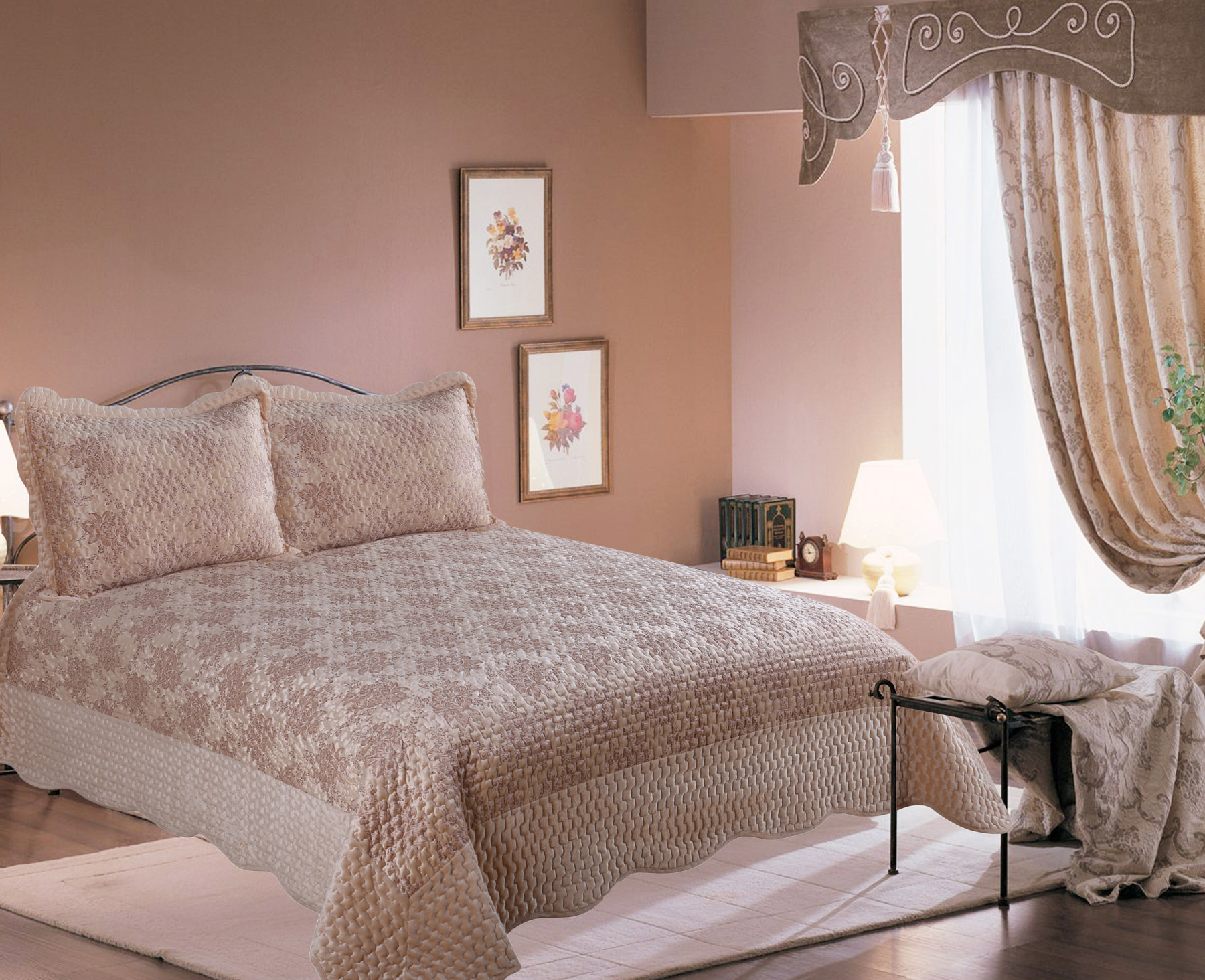 Купить Пледы и покрывала Amore Mio, Покрывало Roose (220х240 см), Китай, Коричневый, Синтетический сатин, Синтетический велюр