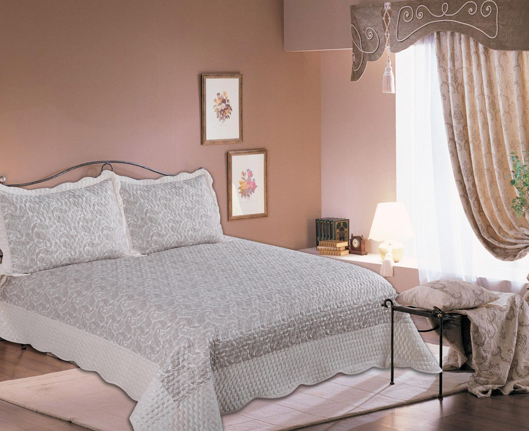 Купить Пледы и покрывала Amore Mio, Покрывало Calcutta (220х240 см), Китай, Серый, Синтетический сатин, Синтетический велюр