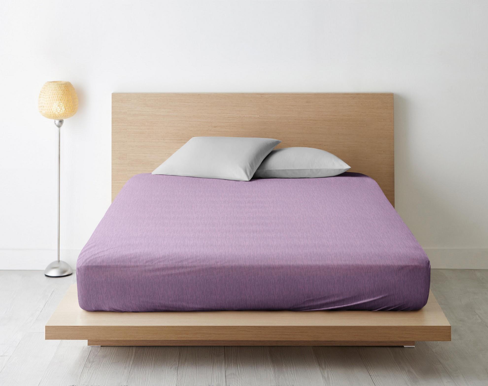 Простыня Стиль цвет: фиолетовый (200х220)