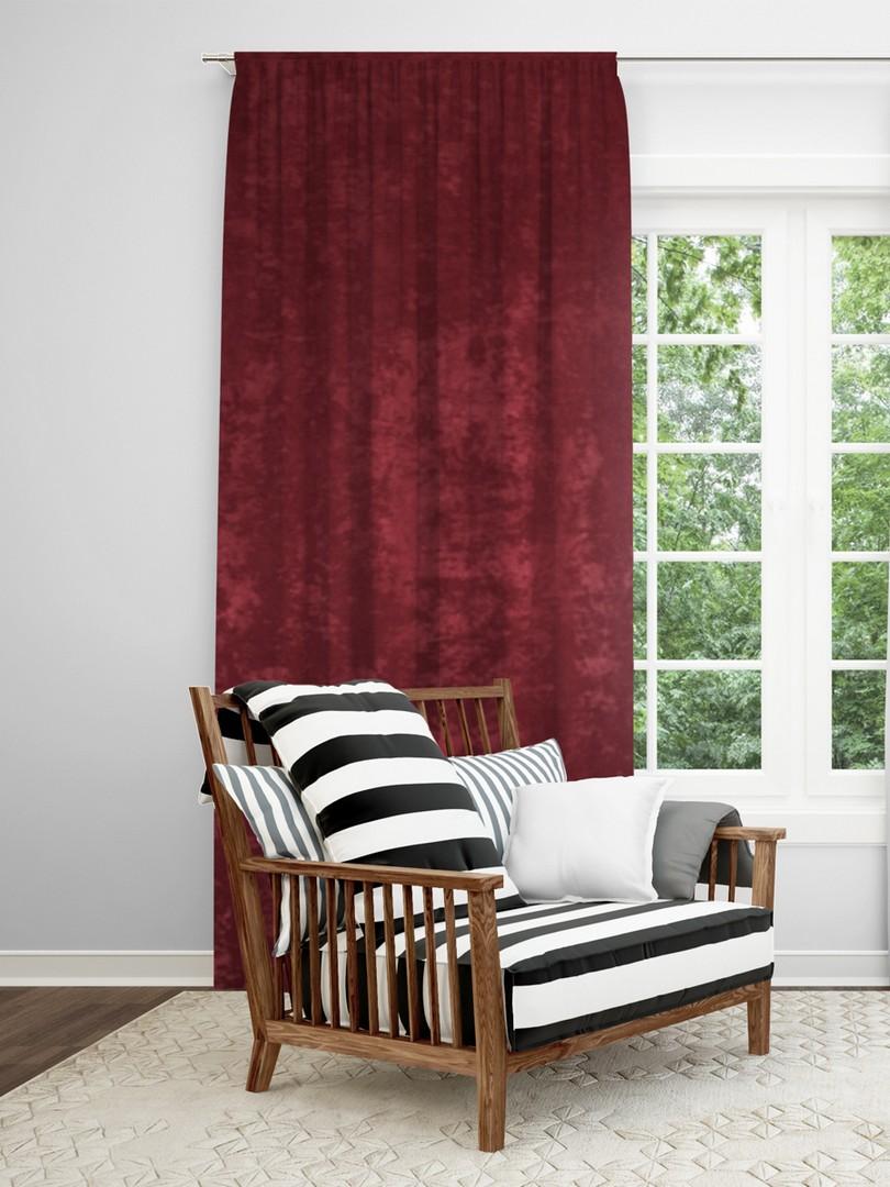 Классические шторы Lismore Цвет: Бордовый