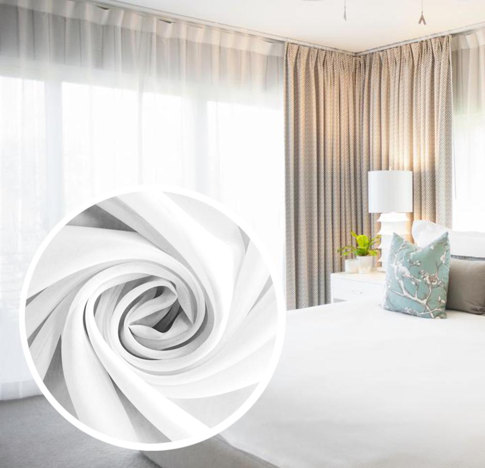 Купить Шторы Amore Mio, Классические шторы Ansel Цвет: Белый, Китай, Вуаль