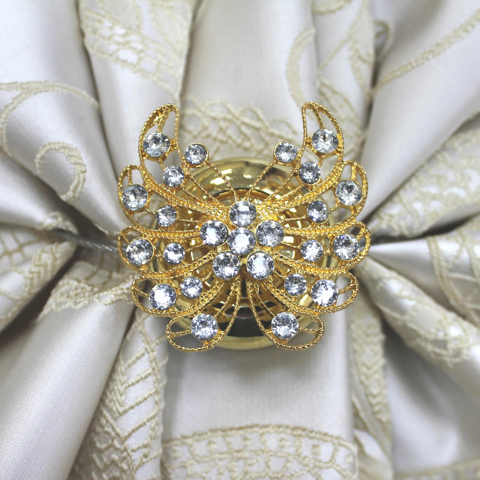 Карнизы и аксессуары для штор Ajur Подхват для штор магнитный Madge Цвет: Золотой карнизы и аксессуары для штор ajur подхват для штор магнитный abott цвет белый