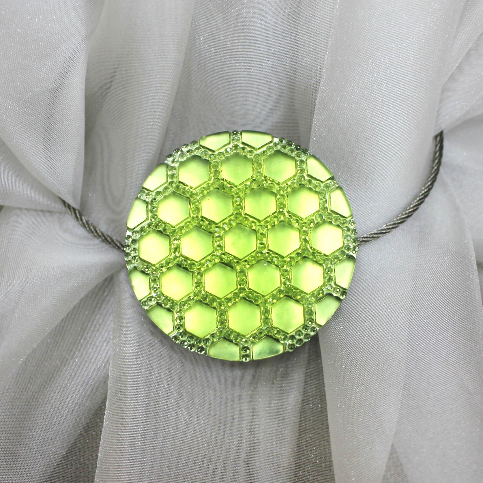 Подхват для штор магнитный Celinda Цвет: Желтый фото