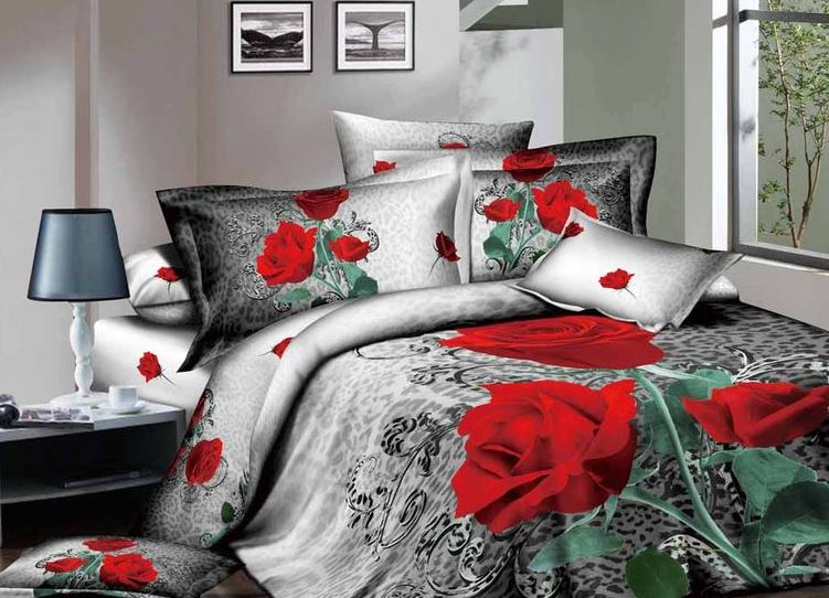 Купить Комплекты постельного белья KAZANOV.A, Постельное белье Dela Rose Цвет: Серый (семейное), Китай, Зеленый, Красный, Серый, Хлопковый сатин