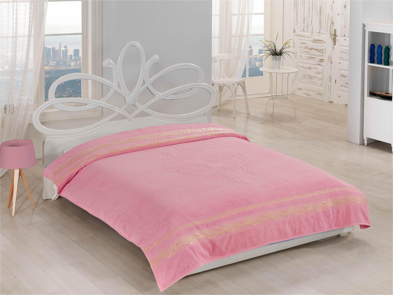 Купить Простыни Beautiful Rose, Покрывало-простыня Flora Цвет: Розовый (200х220 см), Турция, Хлопковая махра