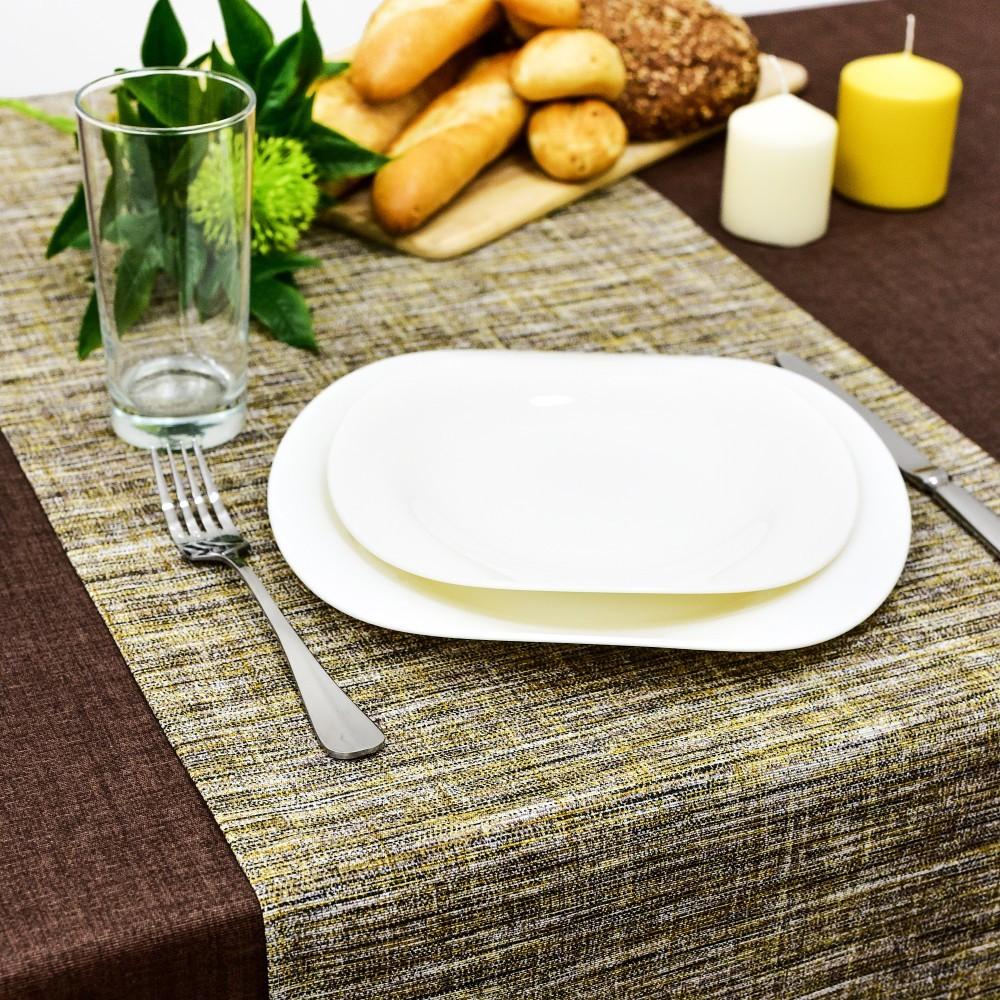 Дорожка на стол Санга цвет: горчичный (40х140 см)