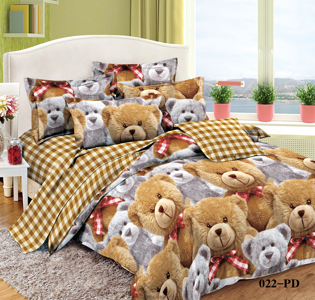 детское постельное белье Cleo Детское Постельное белье Плюшики (145х215 см) simon mignon детское постельное белье