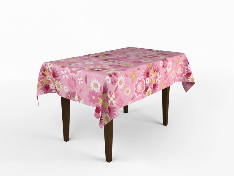 Скатерти и салфетки StickButik Скатерть Розовое Поле (150х220 см) скатерти niklen скатерть 110х145см