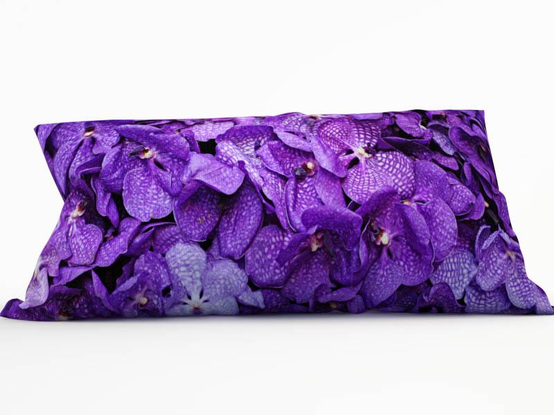 Купить Декоративные подушки StickButik, Декоративная подушка Лепестки Орхидей (25х45), Россия, Красный, Серый, Микрофибра
