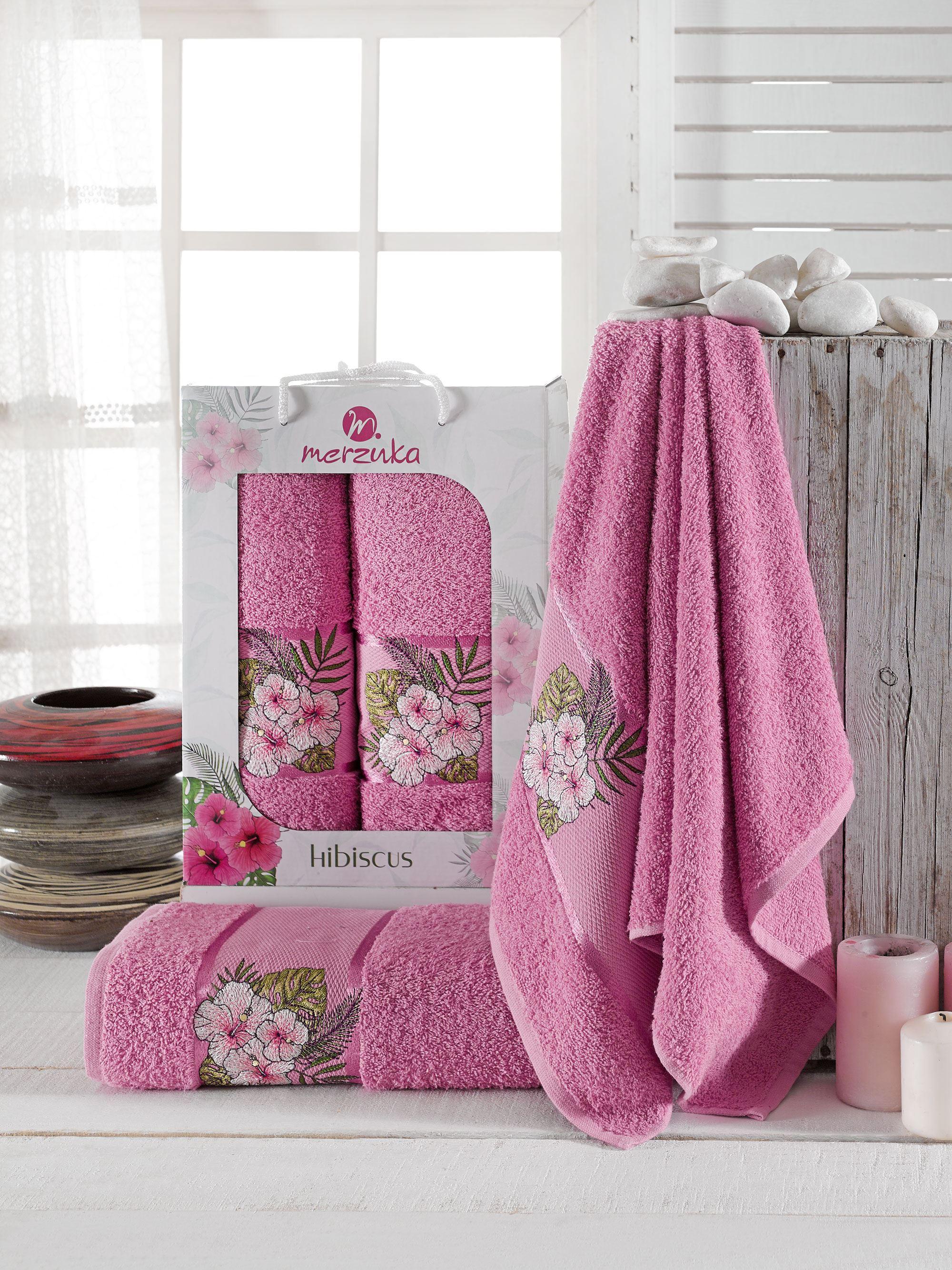Полотенца Oran Merzuka Полотенце Hibiscus Цвет: Светло-Лиловый (50х80 см,70х130 см) полотенца oran merzuka полотенце sakura цвет светло лиловый набор