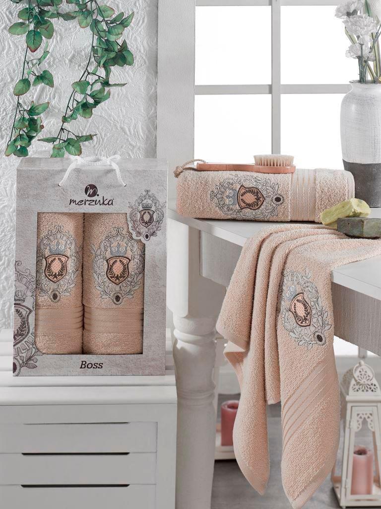 Полотенца Oran Merzuka Набор полотенец Boss (50х80 см, 70х130 см) сирень classik б 50х90 70х130 в коробке набор полотенец фиеста