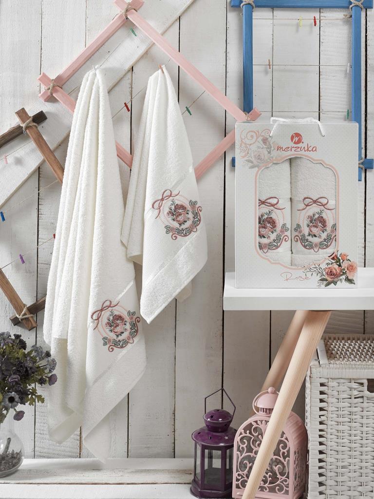 Полотенца Oran Merzuka Набор полотенец Rose (50х80 см, 70х130 см) сирень classik б 50х90 70х130 в коробке набор полотенец фиеста