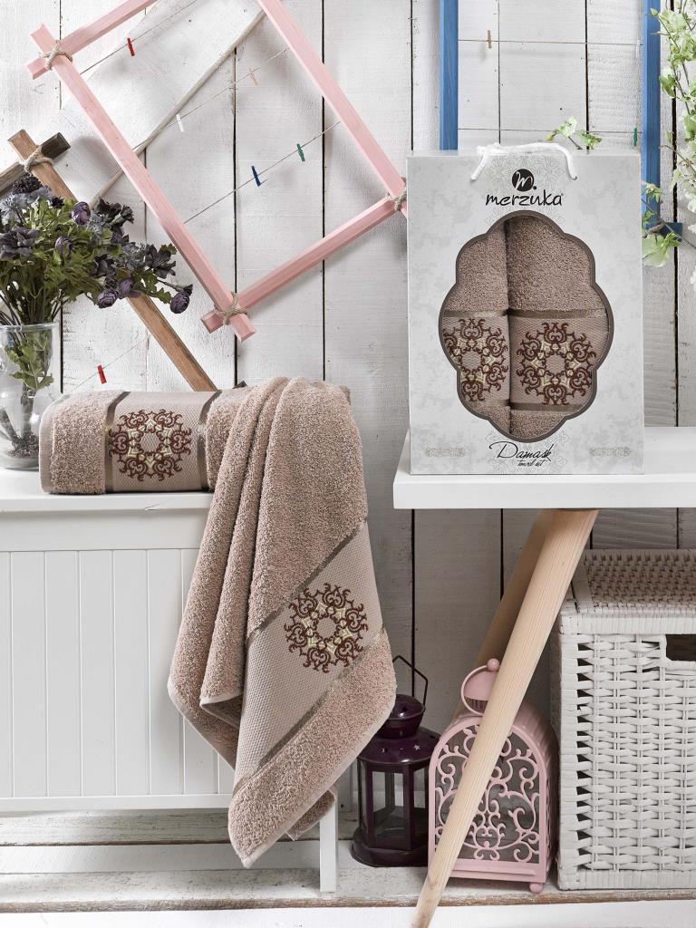 Полотенца Oran Merzuka Набор полотенец Damask (50х80 см, 70х130 см) сирень classik б 50х90 70х130 в коробке набор полотенец фиеста