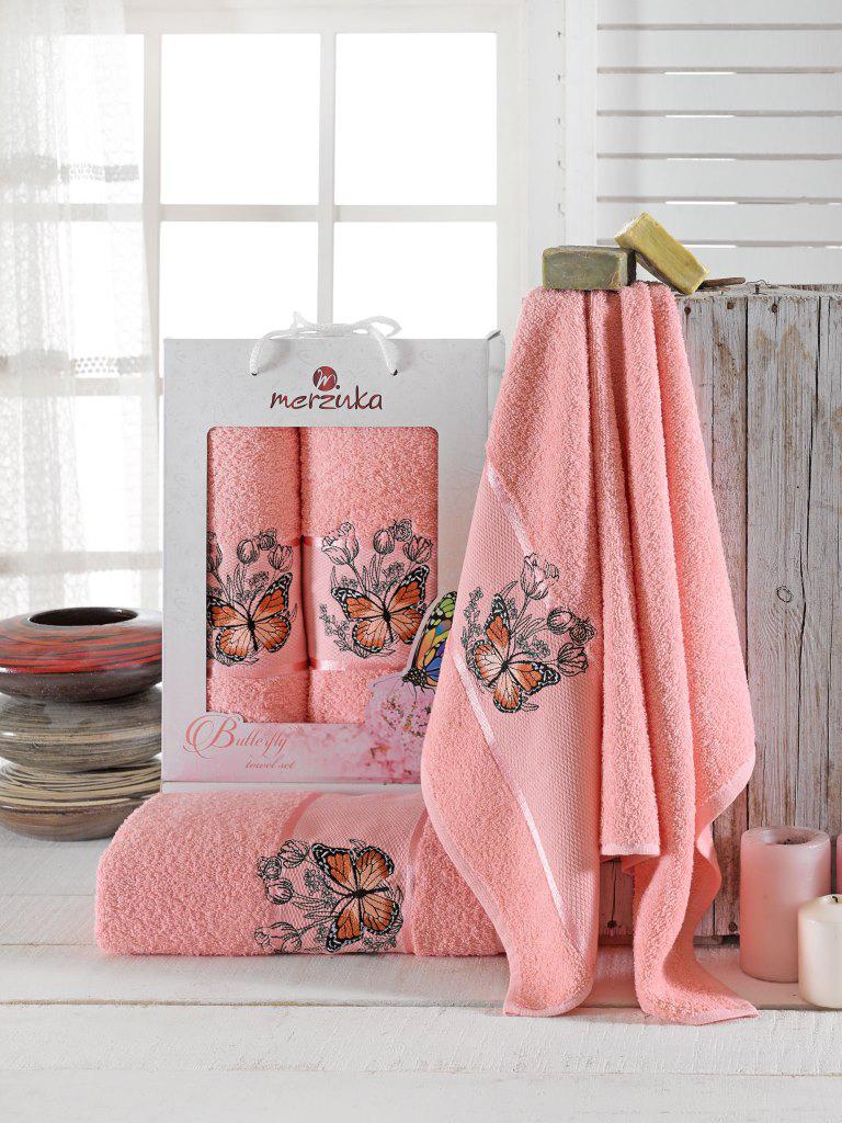 Полотенца Oran Merzuka Набор полотенец Butterfly (50х80 см, 70х130 см) сирень classik б 50х90 70х130 в коробке набор полотенец фиеста