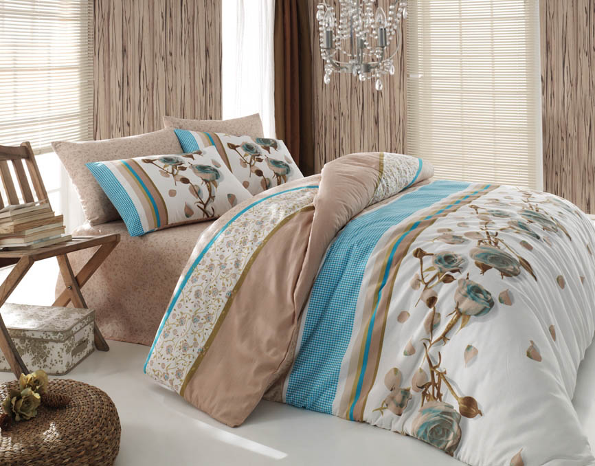 Комплекты постельного белья Cotton Life Постельное белье Rosa Цвет: Голубой (2 сп. евро) rosa евро чёрный