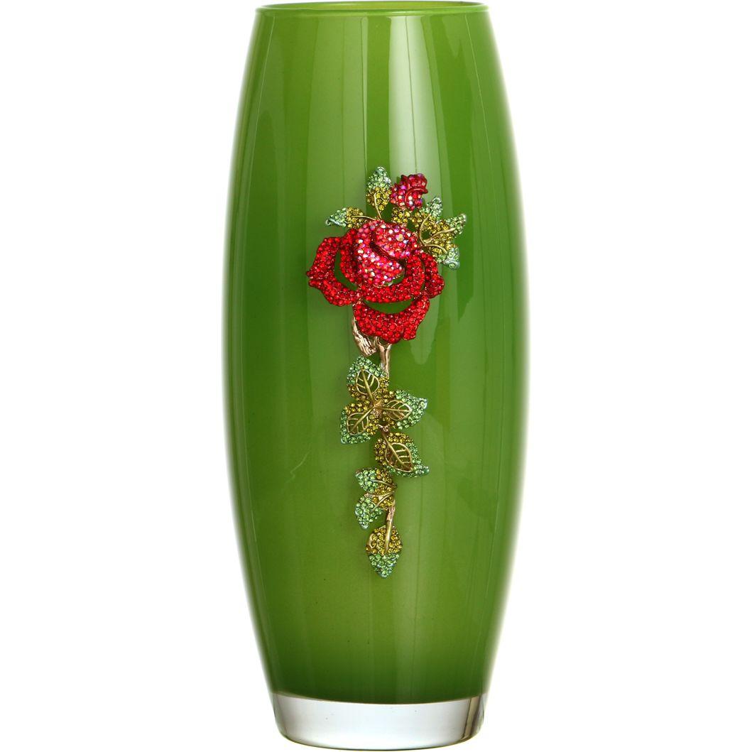 Купить Вазы Santalino, Ваза Pearlie (26 см), Россия, Зеленый, Красный, Стекло