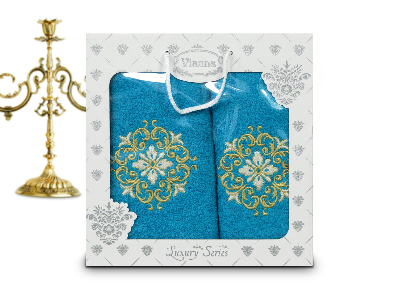 Купить Полотенца Vianna, Полотенце Desirae (50х90 см, 70х140 см), Турция, Махра