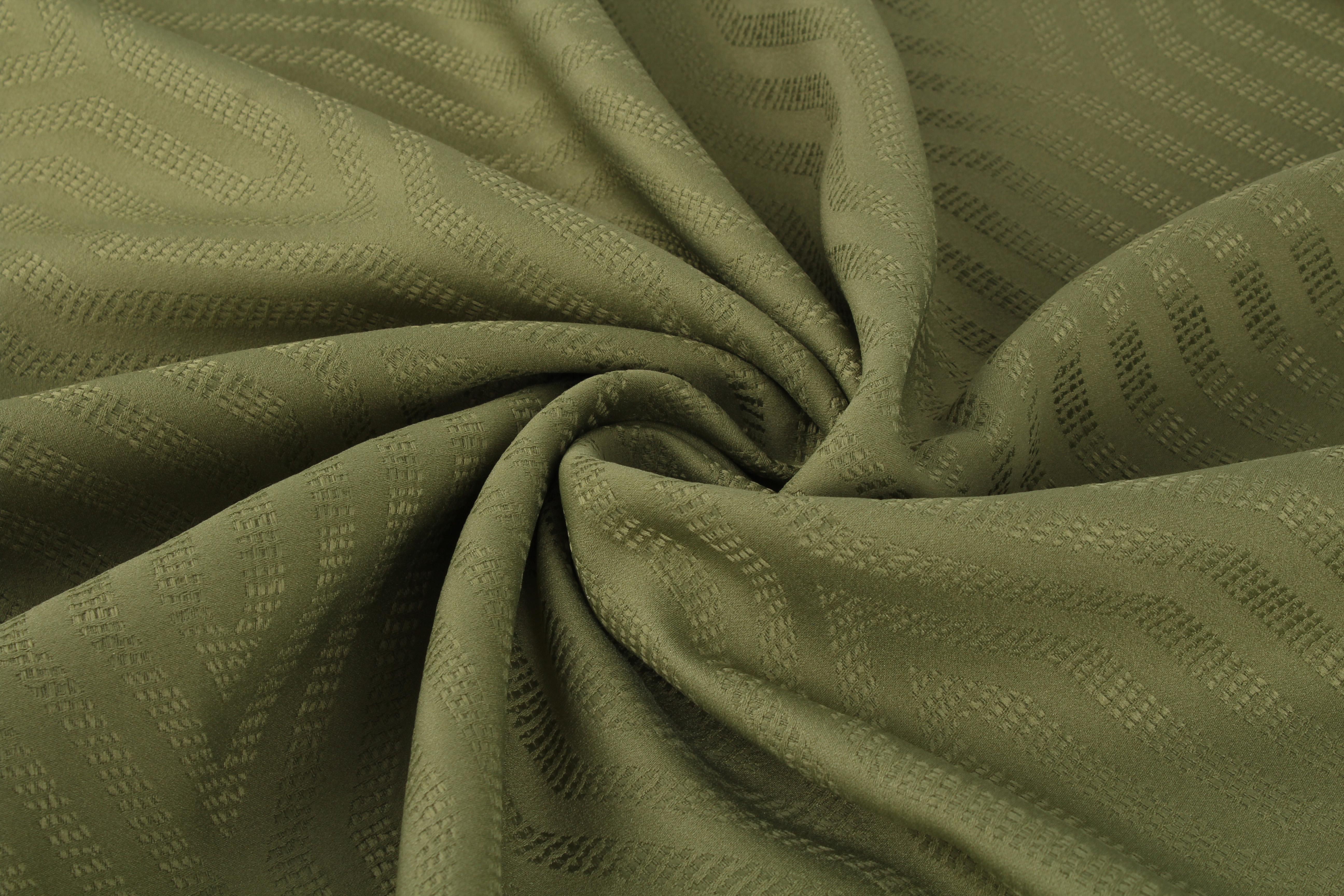 Купить Ткани TexRepublic, Материал Жаккард Lines Цвет: Зеленый, Турция