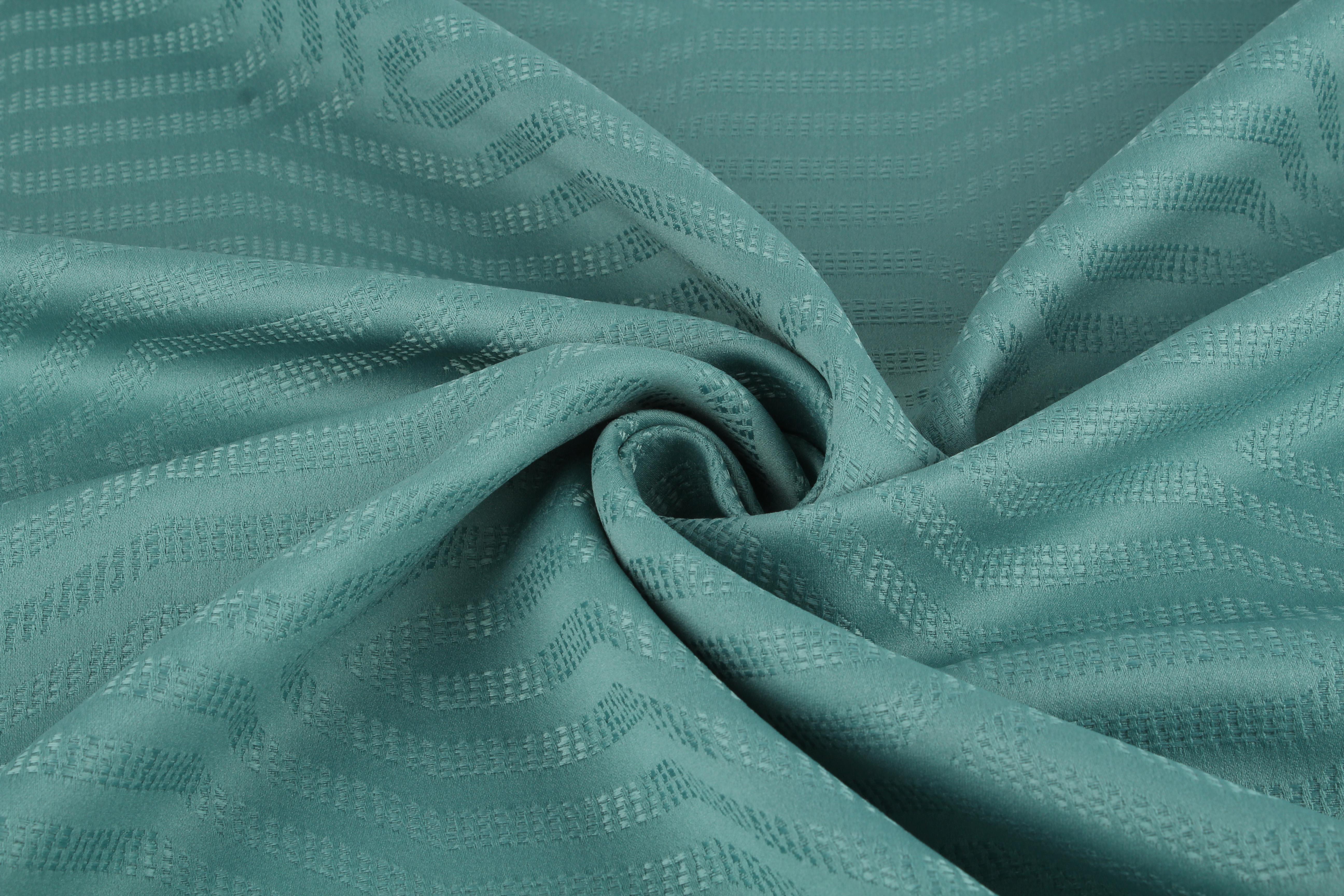 Купить Ткани TexRepublic, Материал Жаккард Lines Цвет: Бирюзовый, Турция, Голубой