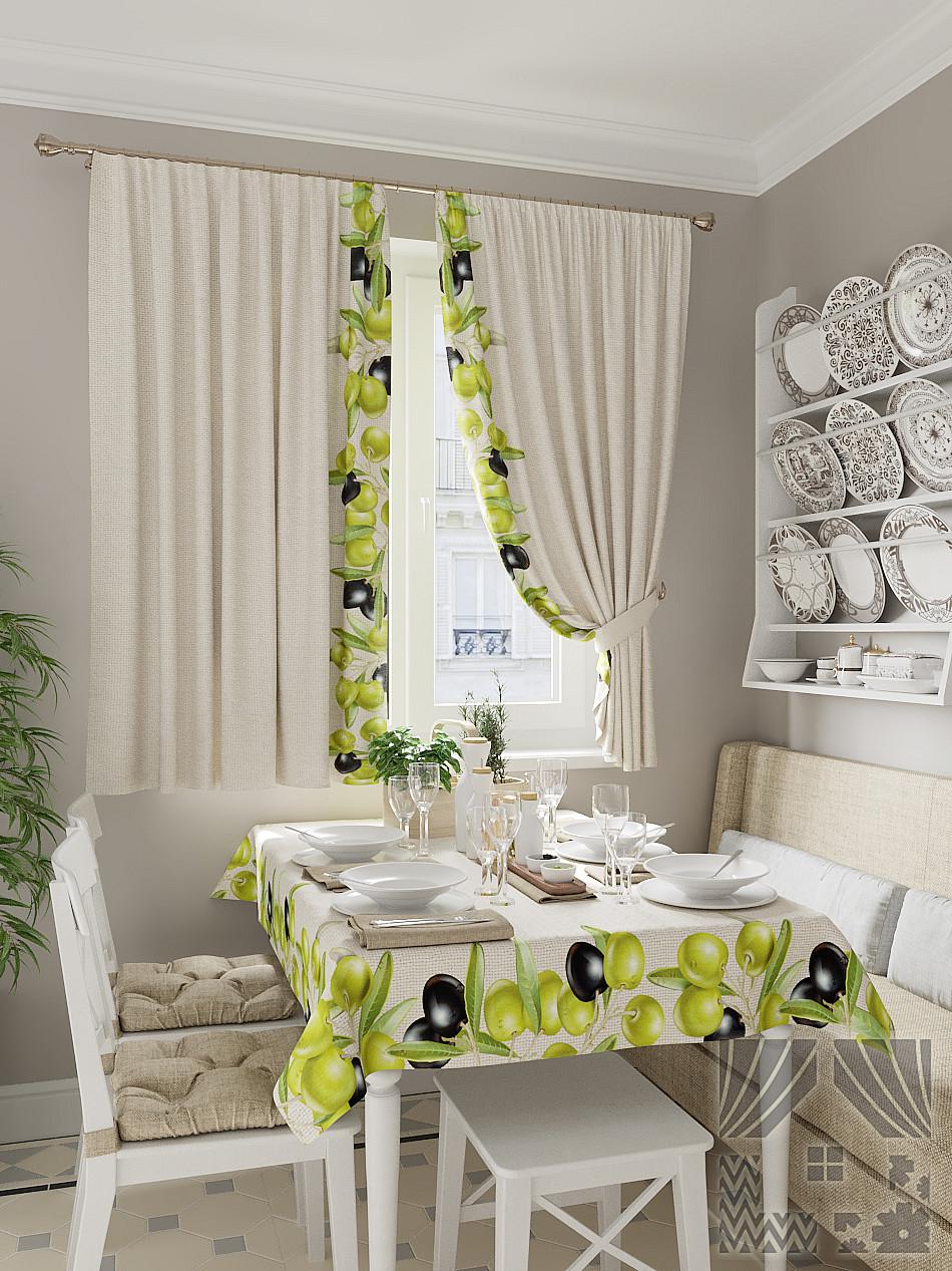 Ткань для штор на кухню фото