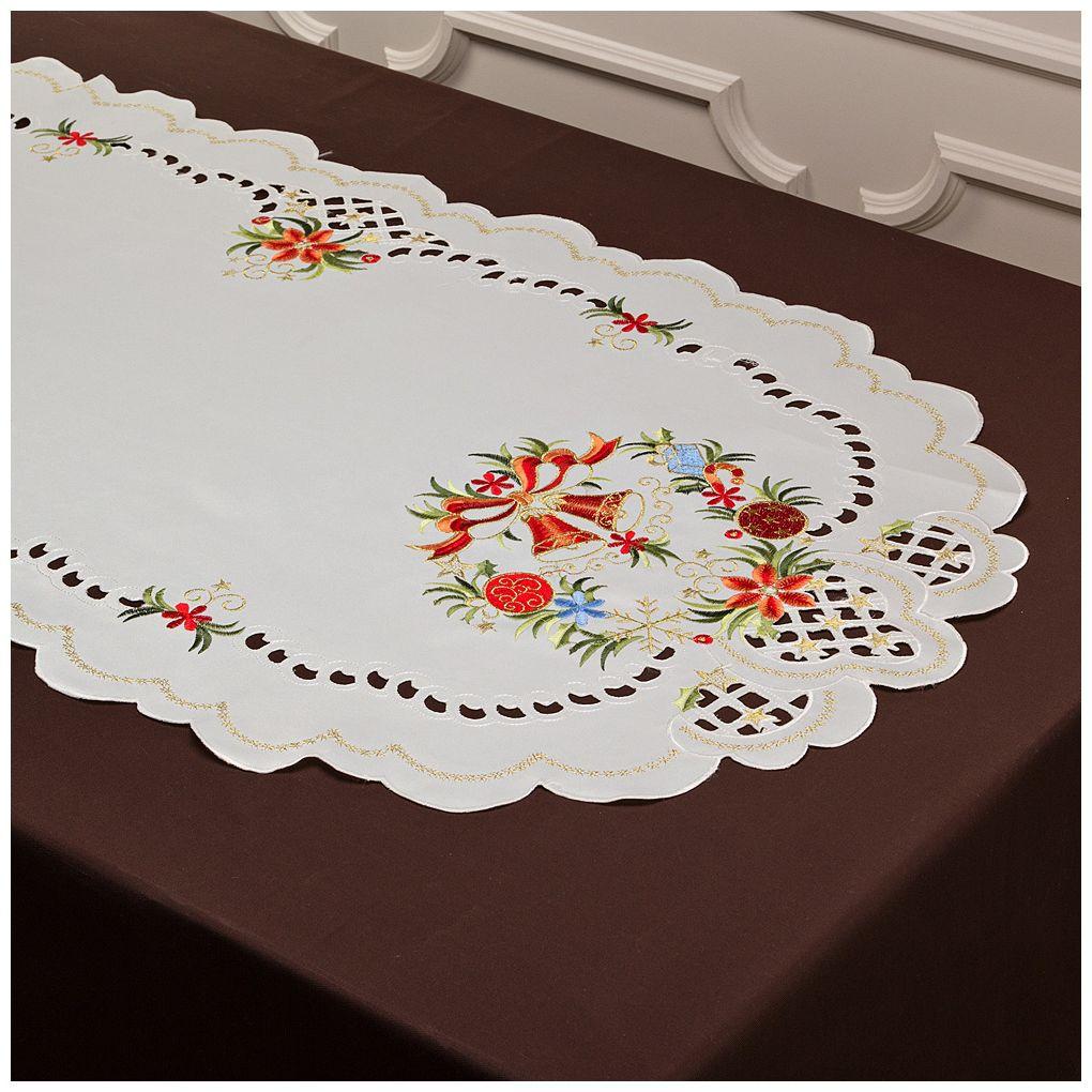 Скатерти и салфетки Santalino Дорожка на стол Elfrieda (60х120 см) wisan салфетка дорожка кшиштов цвет золотистый 60х120 см