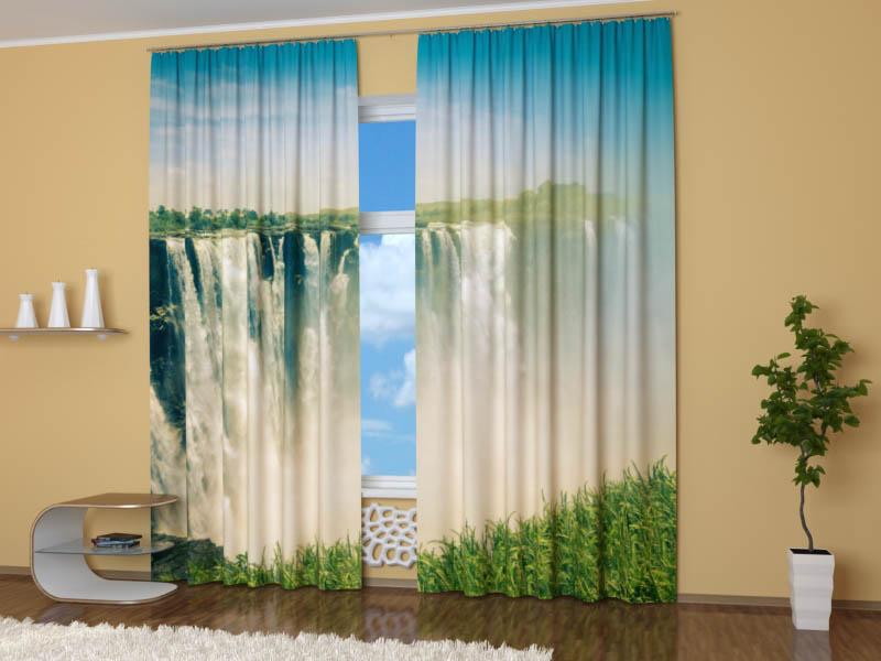 Шторы StickButik Фотошторы Водопад Виктория
