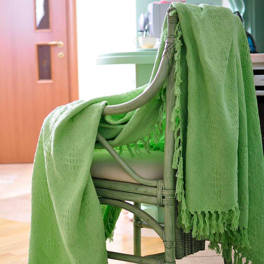Пледы и покрывала Arloni Покрывало Кокос Цвет: Зеленый чай (180х220 см)