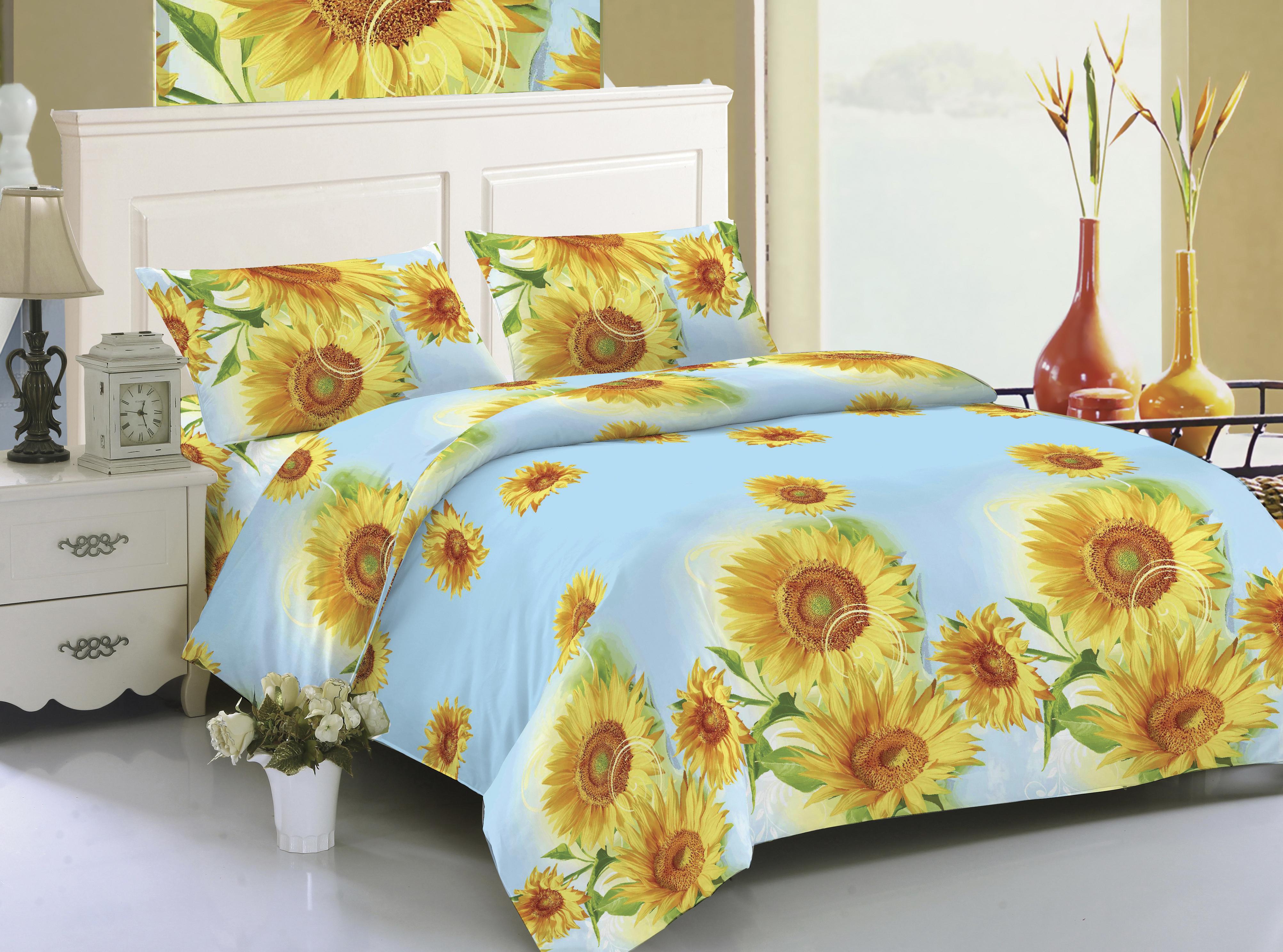 Купить Комплекты постельного белья Amore Mio, Постельное белье Maya (2 спал.), Китай, Голубой, Желтый, Синтетический сатин